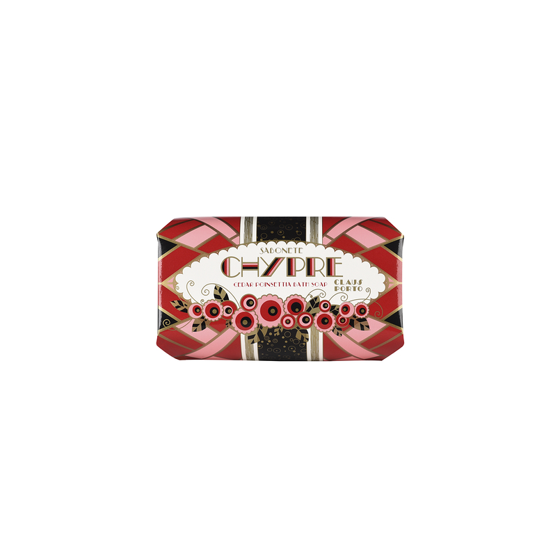 Chypre Cedar Poinsettia Large Soap