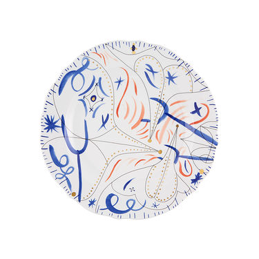 Charger Plate Blue Folkifunki