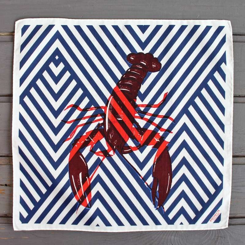 Pocket square Lobster