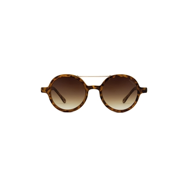 Vivien Metal Series Tortoise Rose Gold Sunglasses