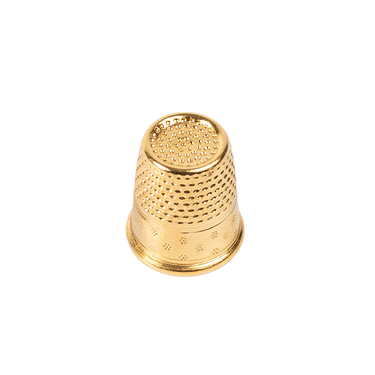 Gold-plated brass dressmakers thimble
