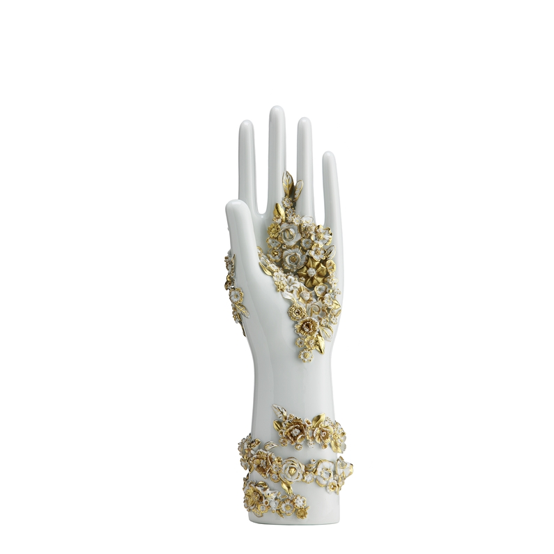 Porcelain White Flowers Floral Hand