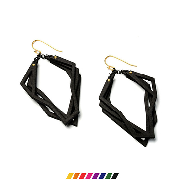 Solitaire Nylon earrings