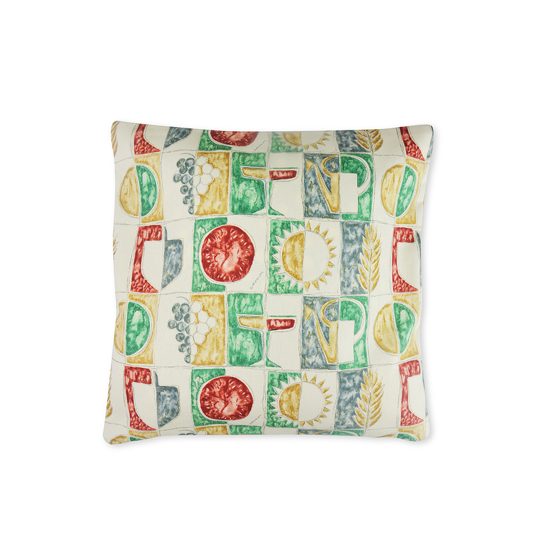 Coussin Motif Vert Rouge Gio Ponti
