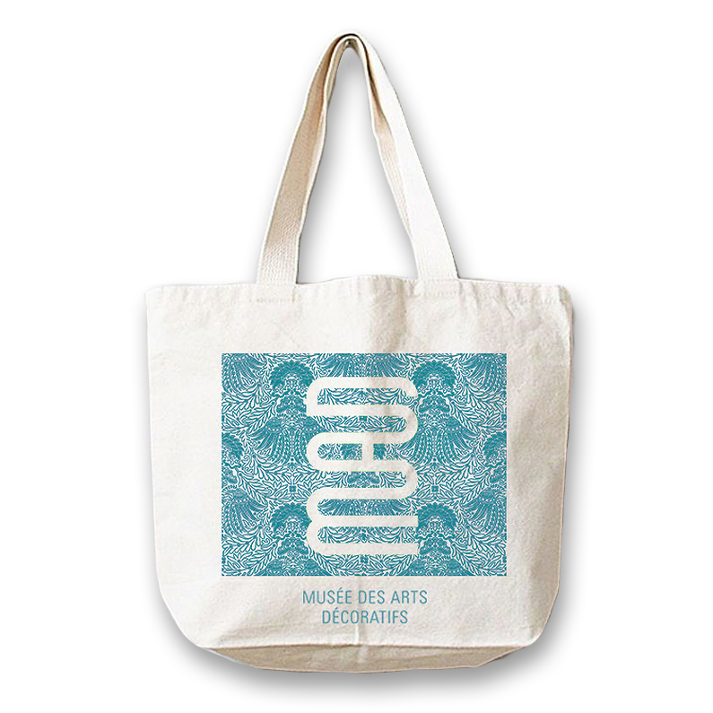 Tote Bag blue-green pattern