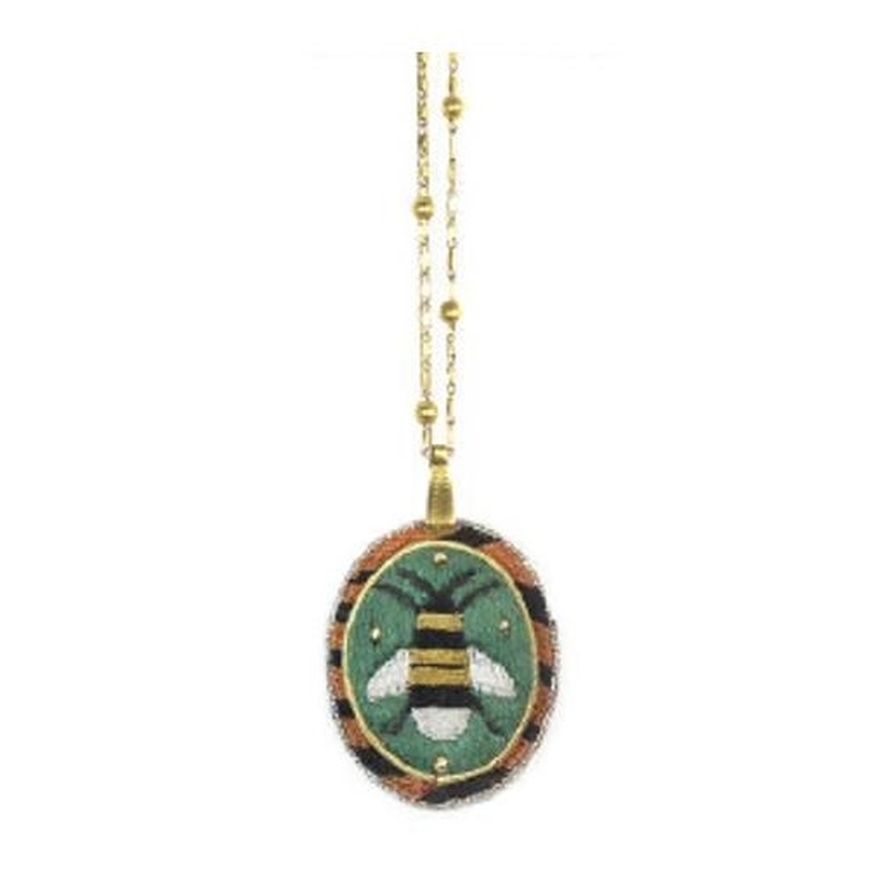 Medallion necklace Bee
