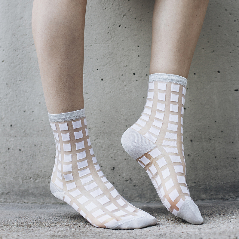 Chaussettes Ginza White 36/38