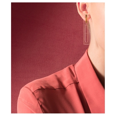 Transparent Rectangle Earrings
