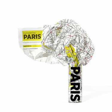 Crumpled City Map - Paris