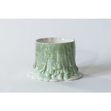 Cécile Bichon - Flower pot holder volcan dégradé vert