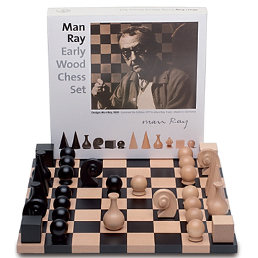 Man Ray Early Wood Chess Set, 1920