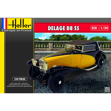 Maquette voiture de collection : Coffret Delage D8 SS
