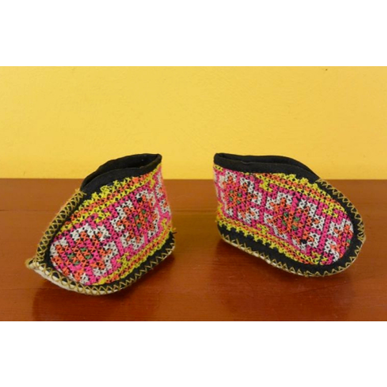 Miao Cross stitch babies booties