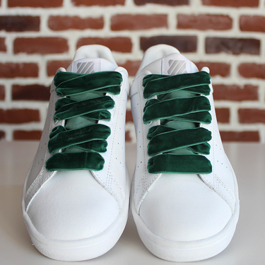 Laces velours green