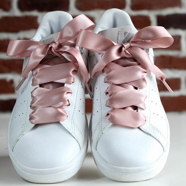 Pink satin lace laces