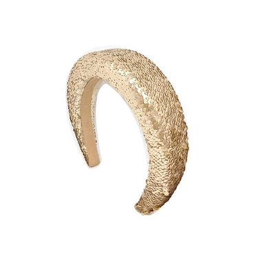 Headband Paillettes Gold