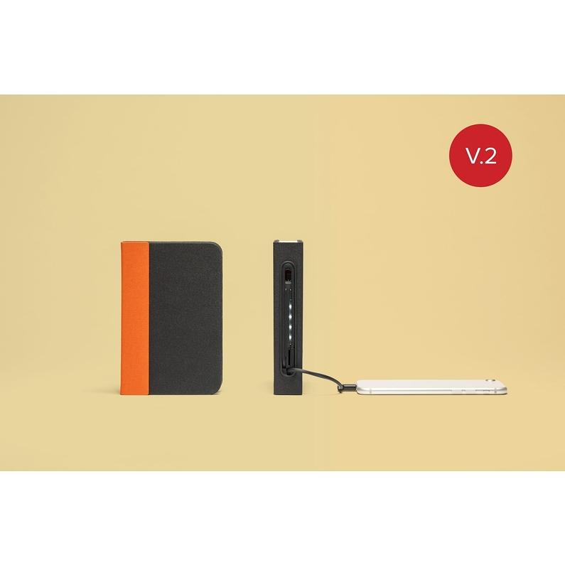 Mini Lampe Livre Lumio Orange Noir Boutique Du Musee Des Arts