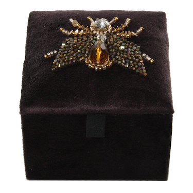 Jewel box velvet insects brown/black