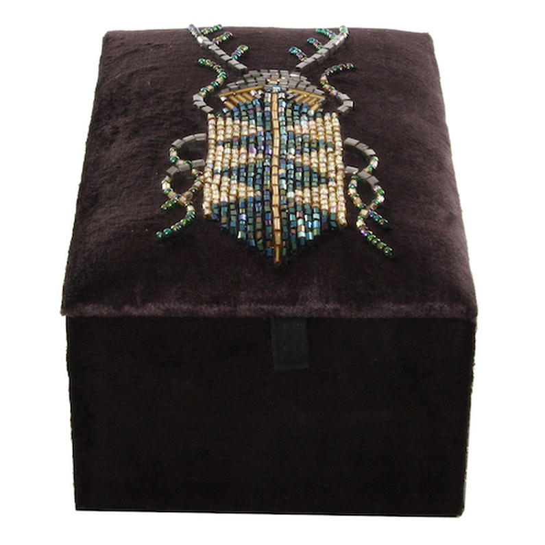 Jewel Box Velvet Insect gold/black/green