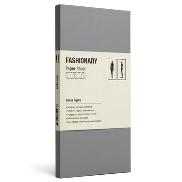 Carnet Fashionary Panel Mens Figure