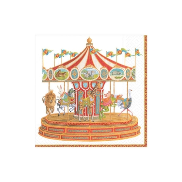 Serviettes cocktail en papier Carousel