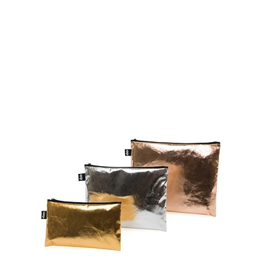 METALLIC Gold, Silver, Rose Gold Zip Pockets