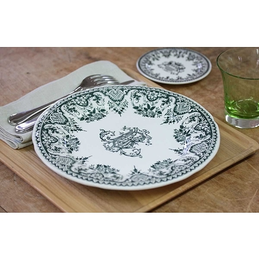 Assiette plate Monogramme