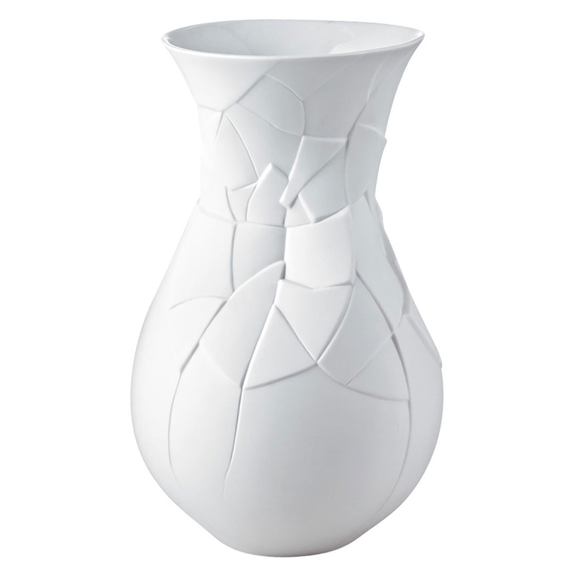VASE OF PHASES MAT WHITE 30 cm
