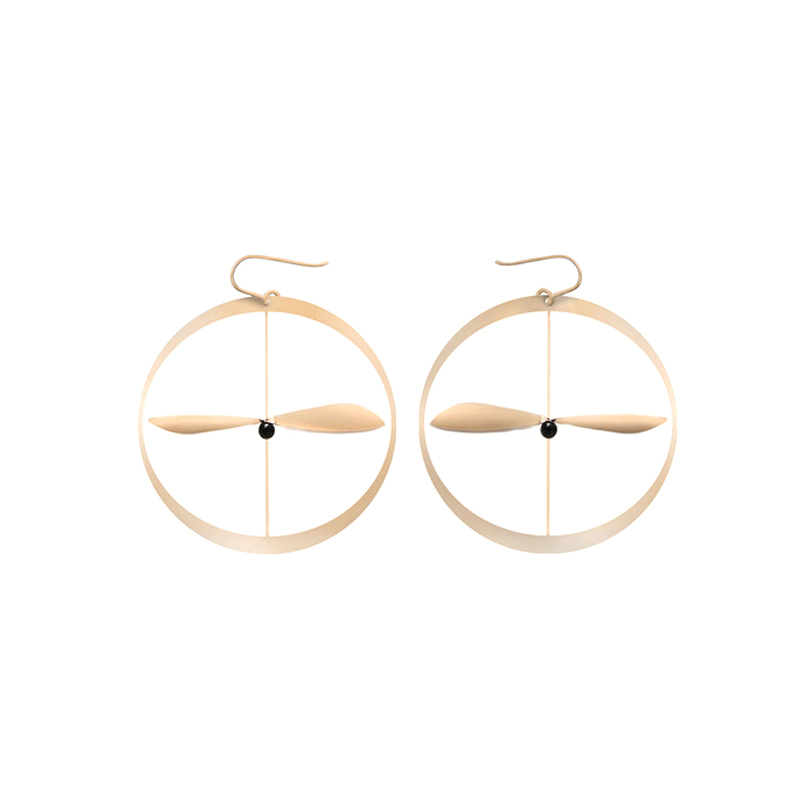 Akène earrings - Pink Gold