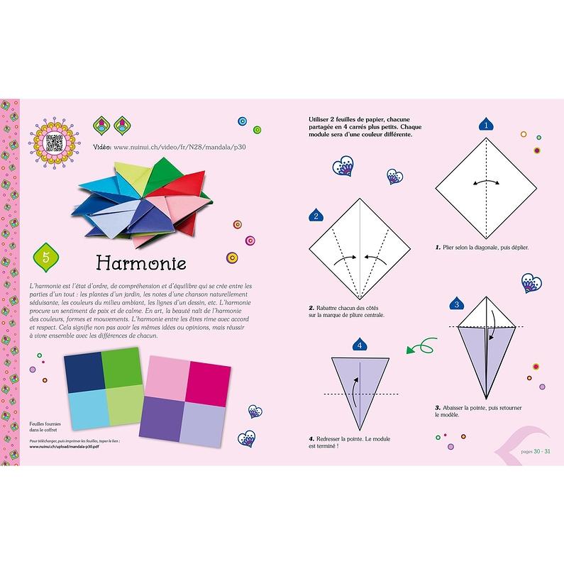 Mandalas Relaxants En Origami Facile Et Pour Les Enfants